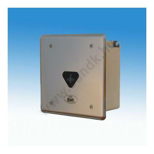 Infrás WC öblítő szelep, frontcsavarozású előlappal, 150 mm-es műanyag dobozban, 230 V AC tápegységgel