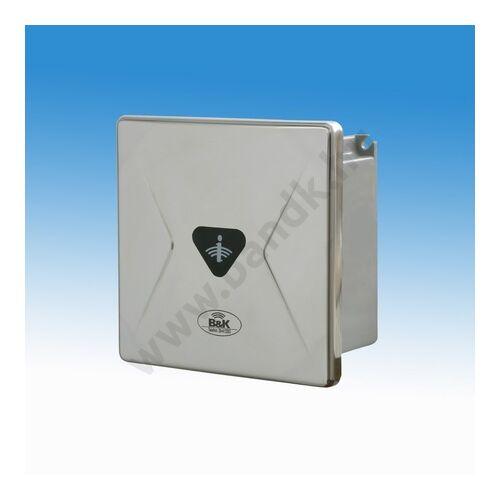 Infrás WC öblítő szelep tartályhoz, eXkluzív rejtett csavarozású előlappal, 150 mm-es műanyag dobozban