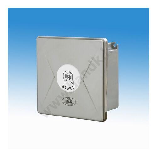 Kapacitív vezérlésű WC öblítő szelep, rejtett csavarozású előlappal, 150 mm-es műanyag dobozban, 230 V AC