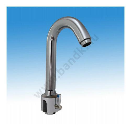 Víztakarékos, infrás orvosi mosdó csaptelep, hideg és meleg vízre, 230 V AC