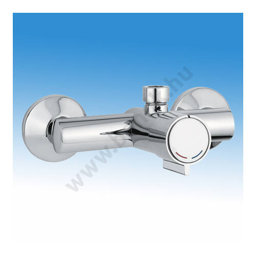 Idral időzített, nyomógombos, falon kívüli zuhanycsaptelep, fejben keverős H-M vízre (15±5 mp)