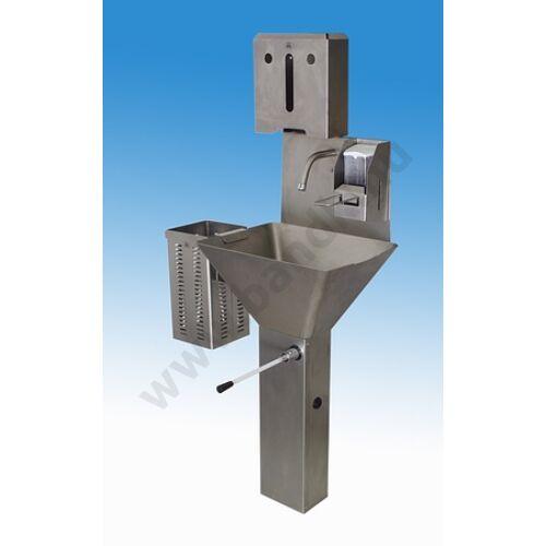 rozsdamentes acél kézmosó,fali kézmosó,vandálbiztos kézmosó,fali mosdó,lábon álló mosdó