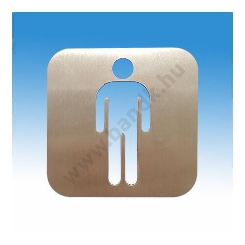 Férfi WC piktogram szálcsiszolt rozsdamentes acélból