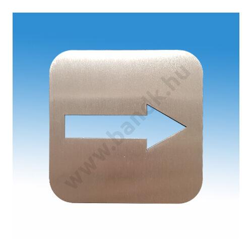 Irányjelző piktogram, szálcsiszolt rozsdamentes acélból
