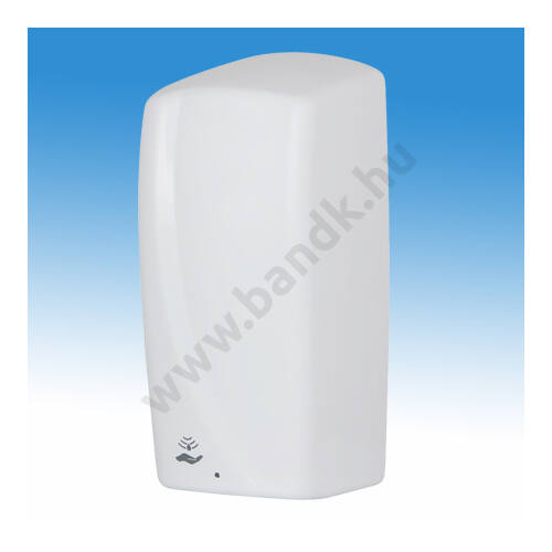 Falra szerelhető infrás kézfertőtlenítőszer adagoló, műanyag, fehér, 1,1 l, elemes