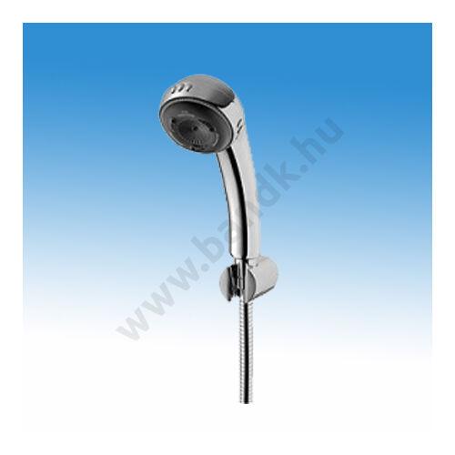 Zuhany szett öt funkciós zuhanyfejjel, csavarodásmentes gégecsővel, zuhanytartóval, krómozott