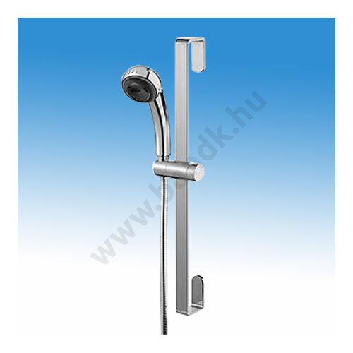 Zuhany szett öt funkciós zuhanyfejjel, csavarodásmentes gégecsővel, állítható magasságú zuhanytartóval, krómozott