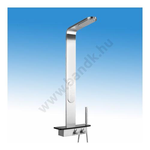 WEST Prémium Zuhanypanel kézi váltószeleppel (3 választható kimenettel: esőztető, hátmasszázs és kézi zuhany funkció), k